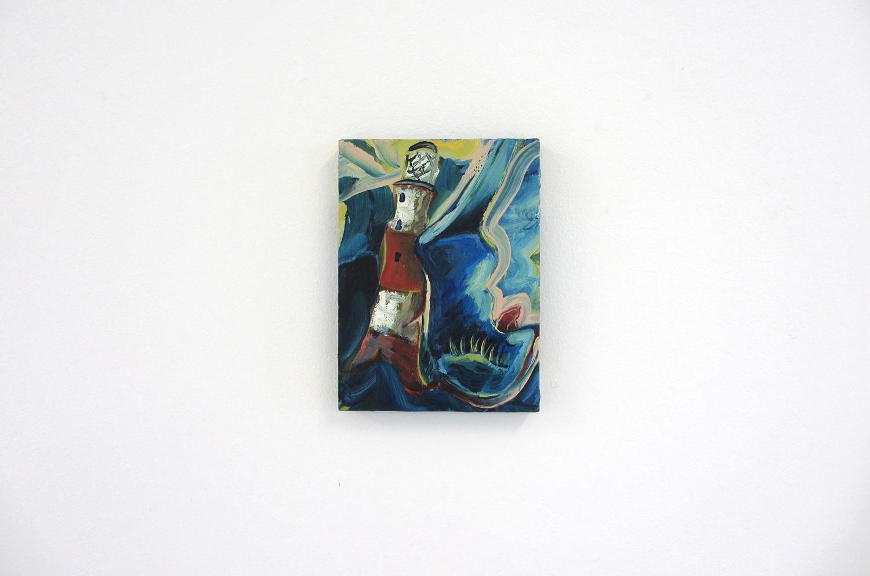 Simon Bayliss, Brace Up, 2013,oil on panel,23 x 16.5 cm