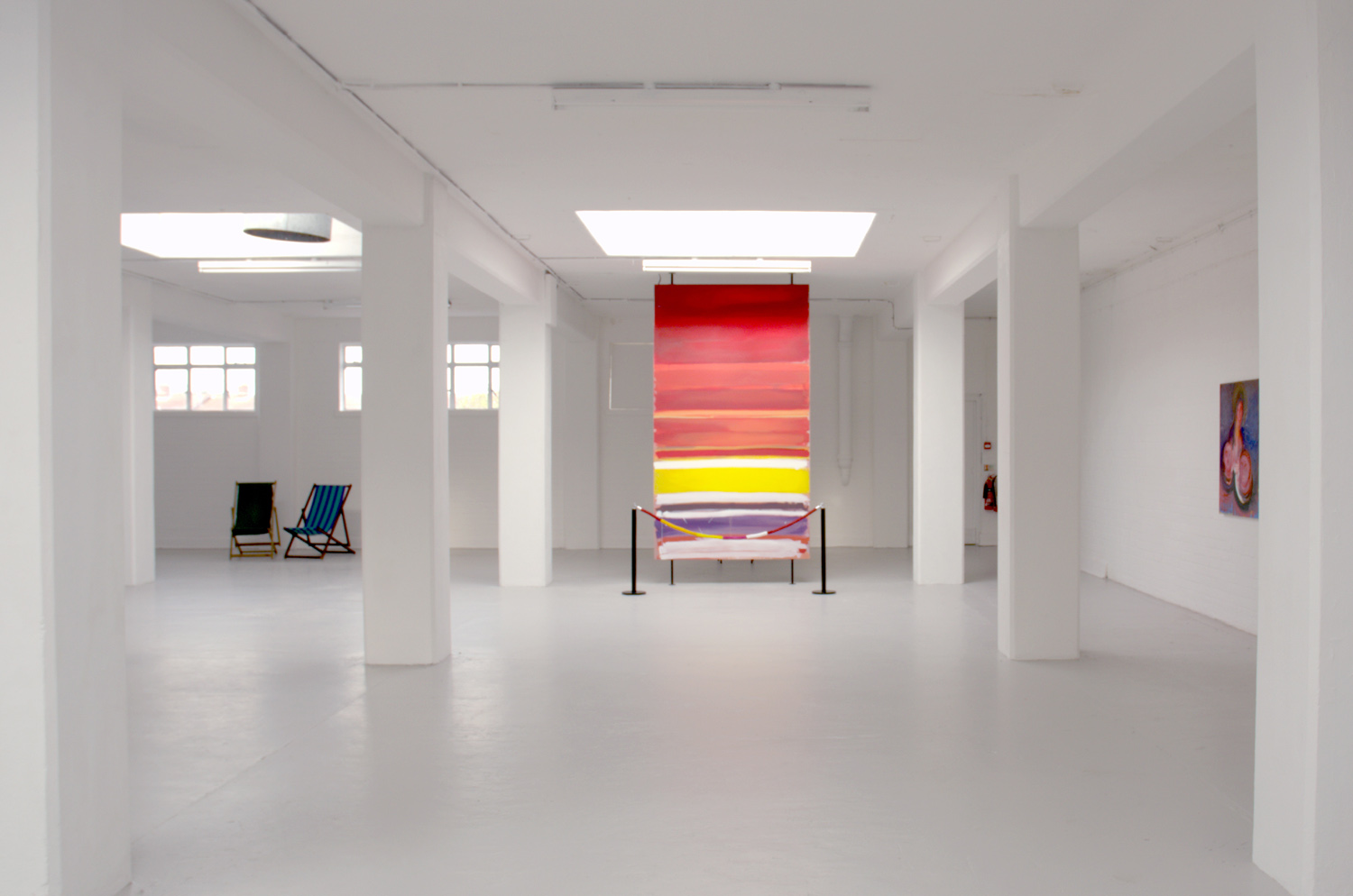 Installation view,[background] Simon Fujiwara, The Mirror Stage ,2009 - ongoing,mixed media,dimensions variable, video,27:41 minutes
