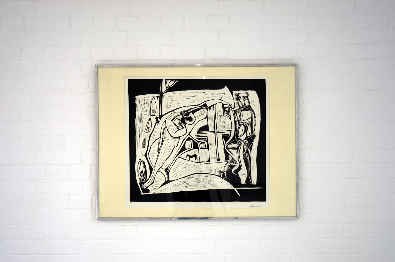 Peter Lanyon, The Returned Seaman,   1949,linocut,68 x 74 cm,Gimpel Fils, London
