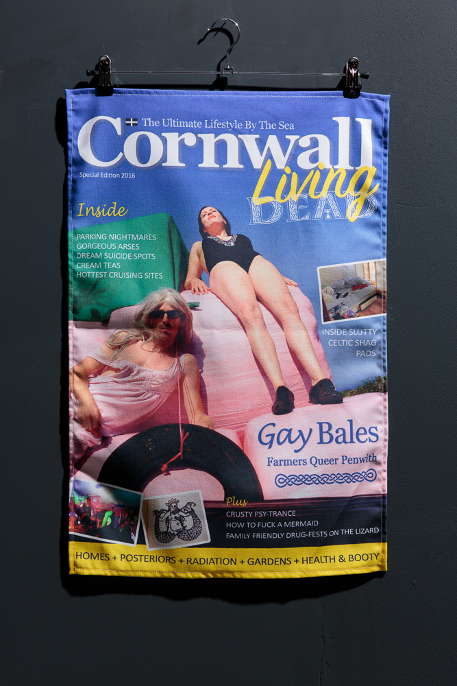 BLISS  Cornwall Living Dead , tea towel, 71 x 46 cm approx., produced by Artist Tea Towel Company