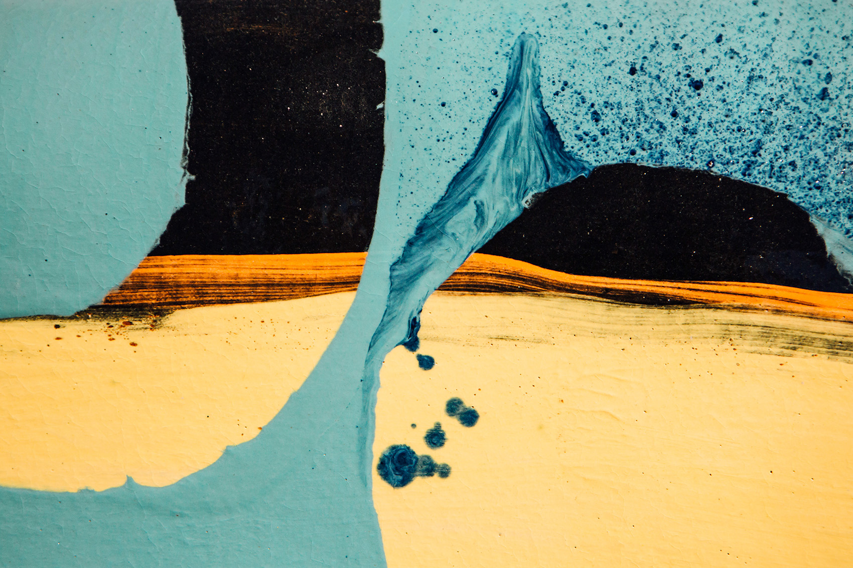 Detail:  Untitled (XL turquoise dawn pasty)