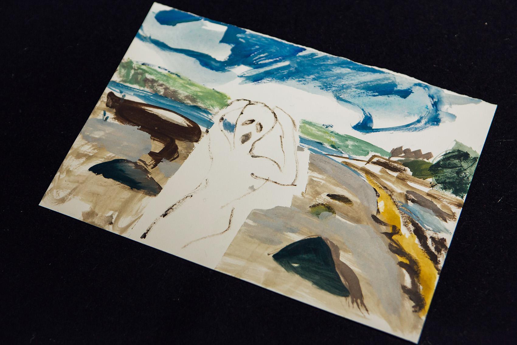 En plein painting (Par Beach) , 2018, watercolour on paper