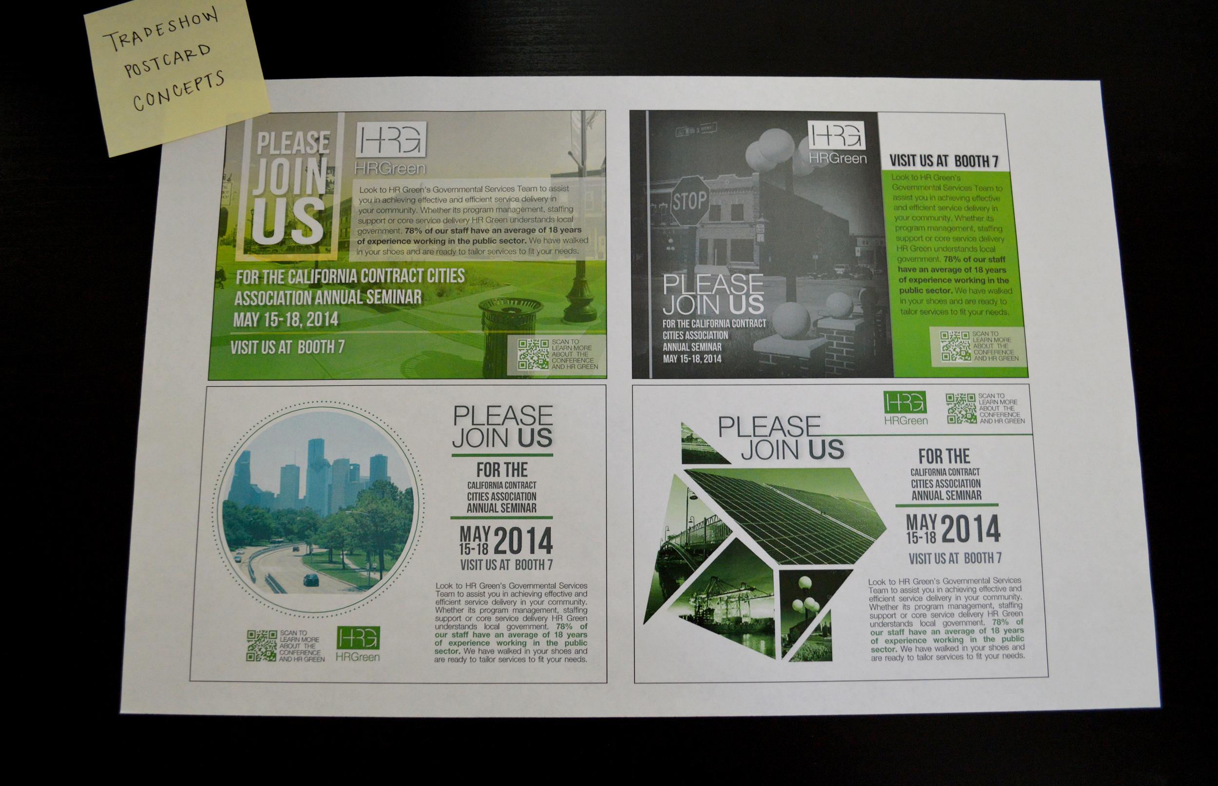 Tradeshow Postcard Concepts