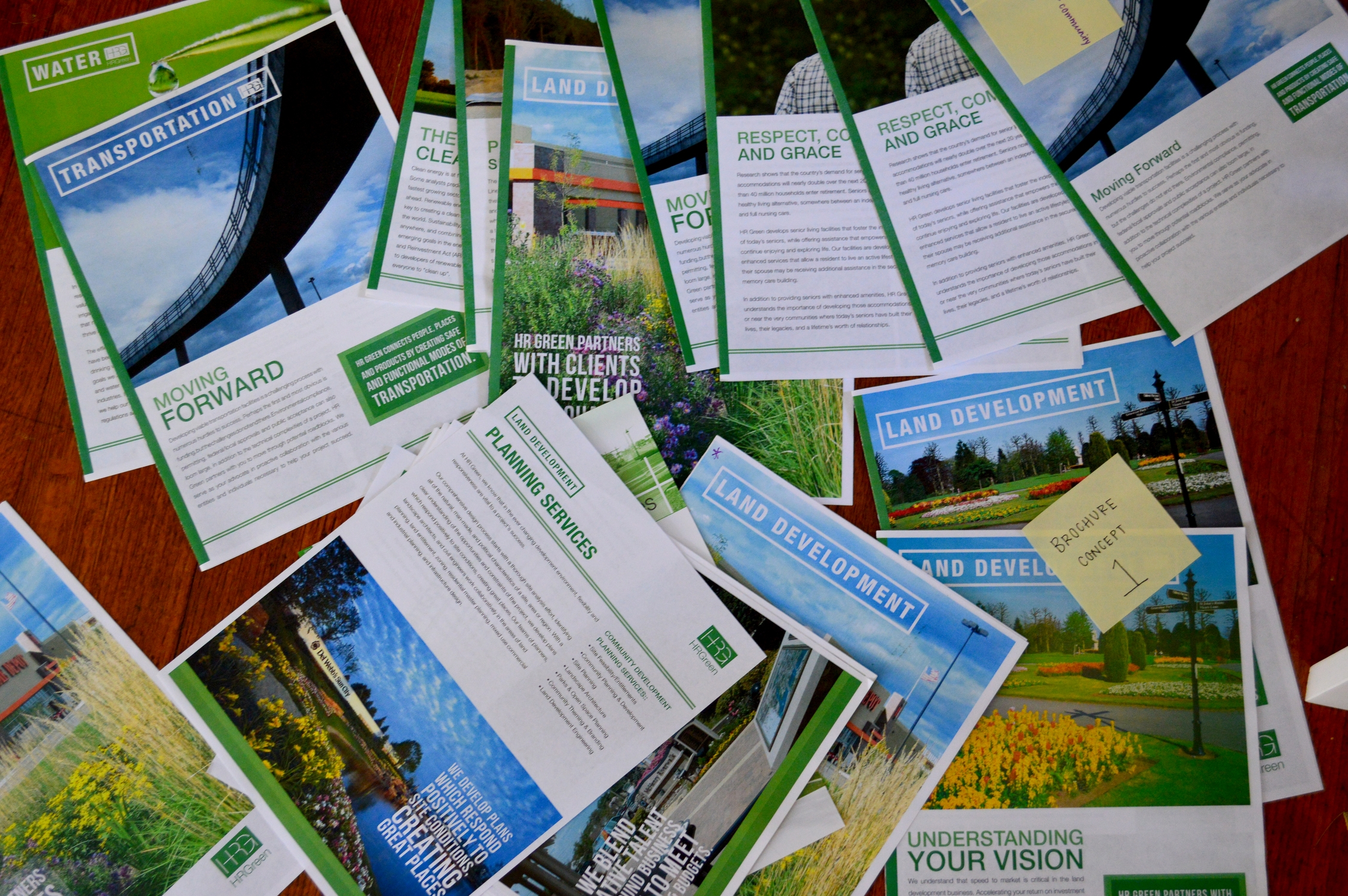 Collection of HR Green Brochure Mockups