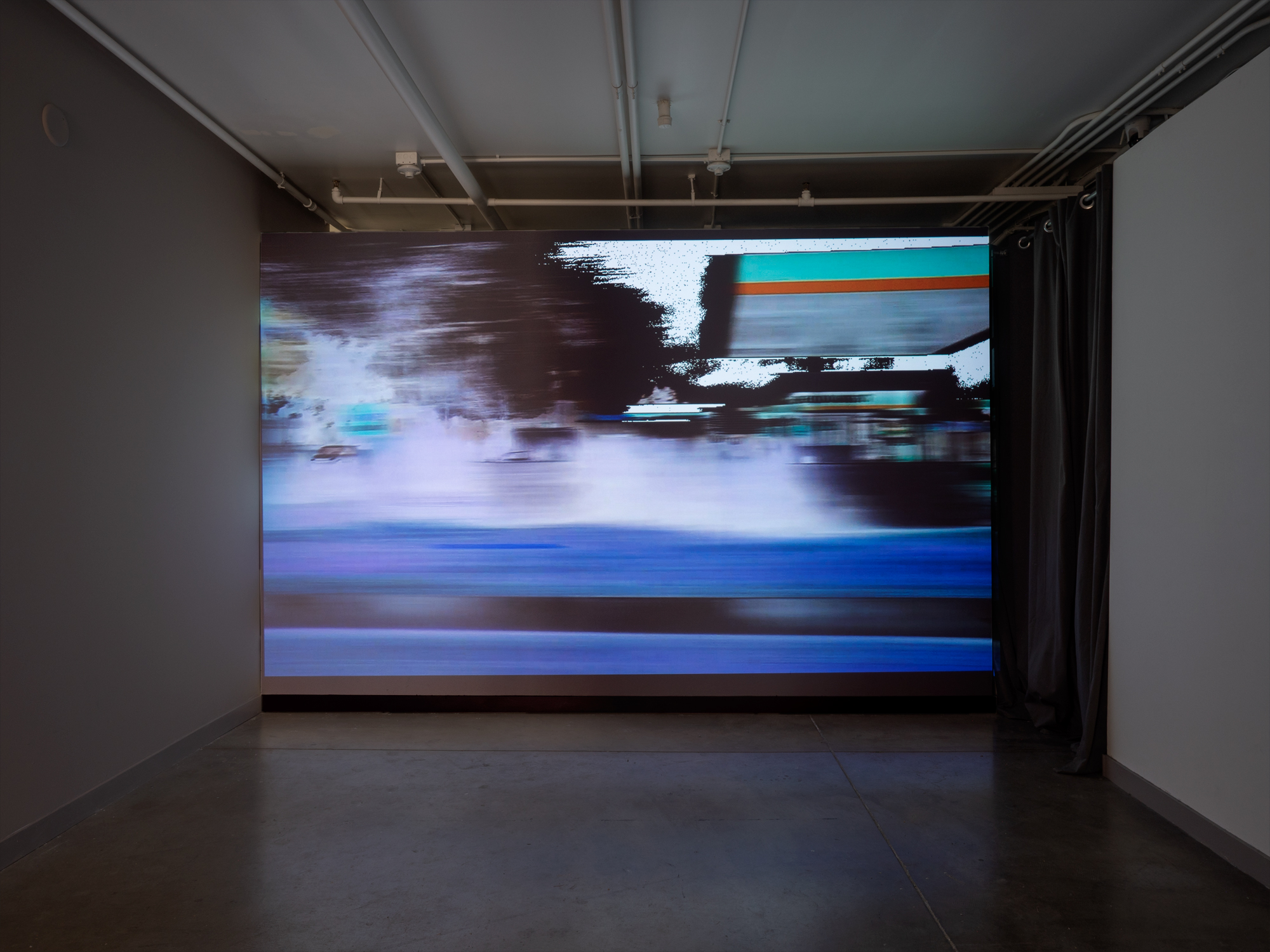 Main by Car. silent video. 38min 46sec. installation view. 2019.