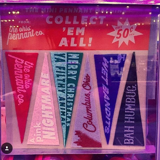 Do you know our friends @ohiopennantco ? They have this darling #pennant machine. Go see it at @kittiescakes GV