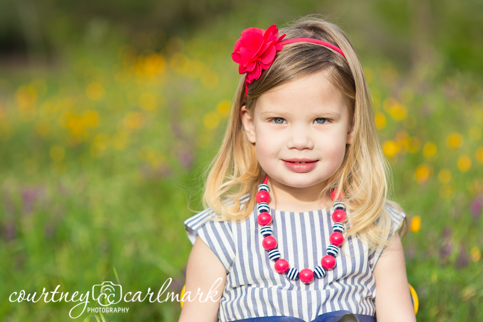 Color, patterns and jewelry are perfect for kid photos!