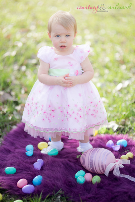 """It looks like she's asking """"Where's the Easter candy?"""""""