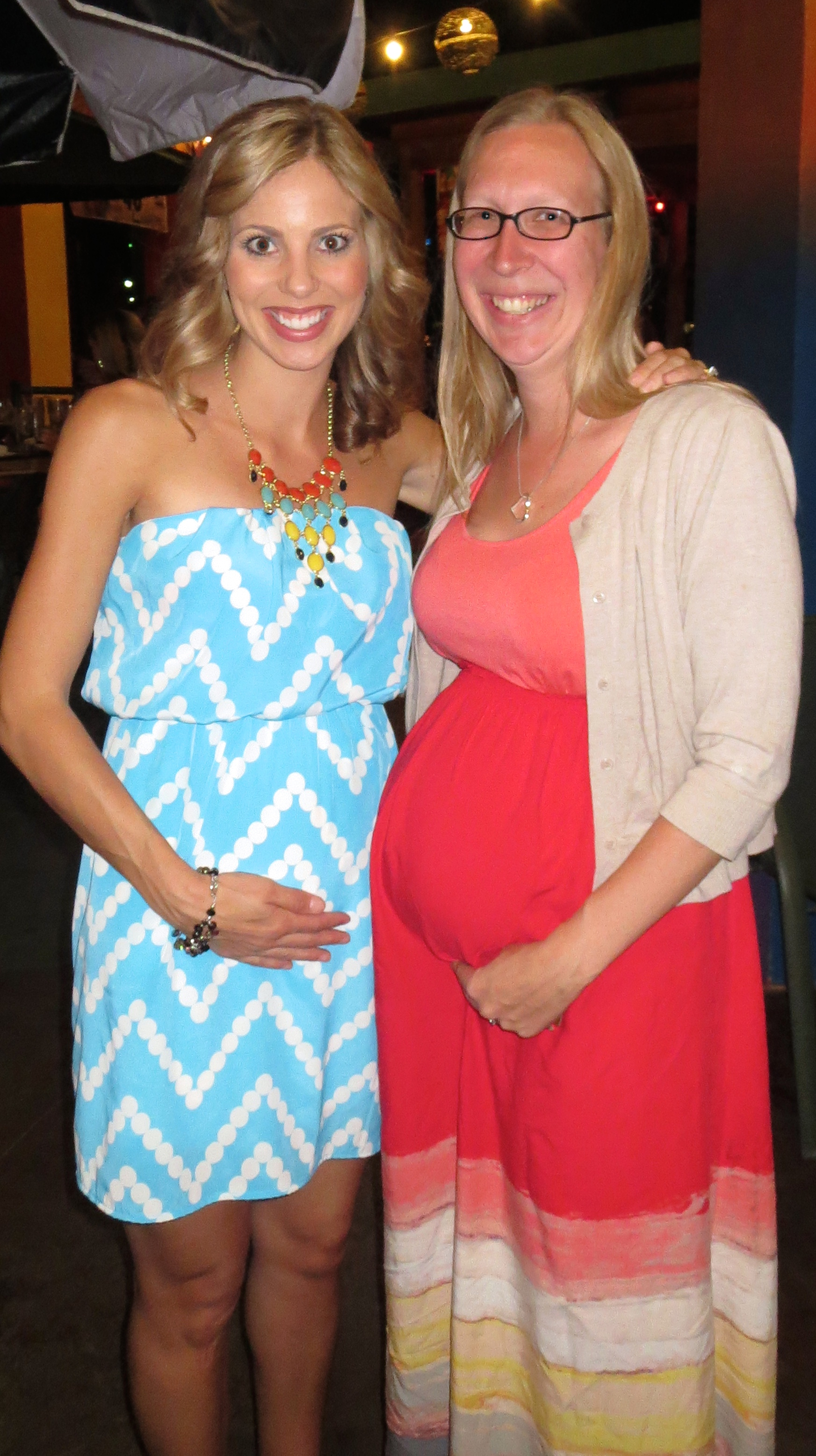 May 2013 Going Away Party - I was almost 4 months pregnant and Jennifer was less than a month away from Taylor's arrival!