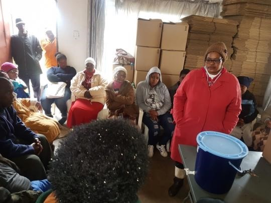 Thirty households partaking in the informed consent process at the PureMadi Dertig Filter Facility. The informed       consent process provides participants with sufficiently detailed information on the study so that they can make an informed, voluntary and rational decision to participate.