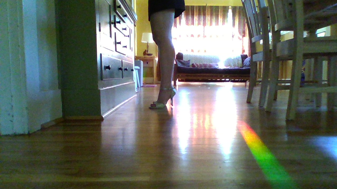 Step 3: When I dance tango, I NEVER lift my heels off the floor this way because it is inefficient, but the exercise allows me the strength to stay over my arches when I pivot with my heels skimming the floor.