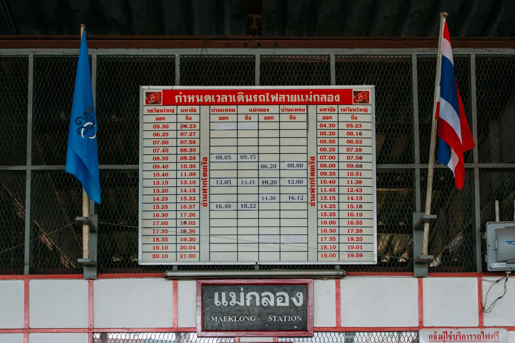 Tabela de horários