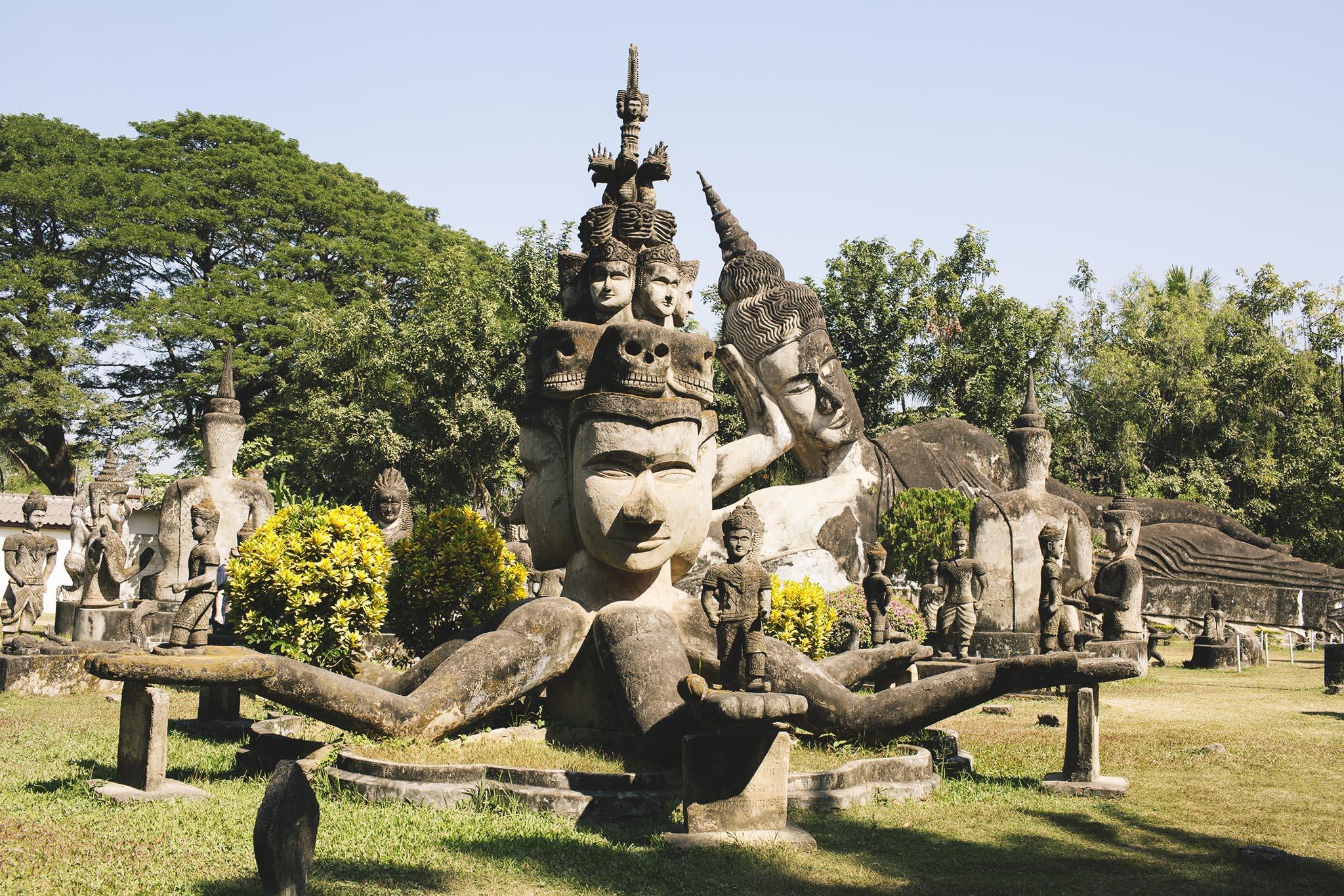parque buda vientiane laos eduardo e monica viagem