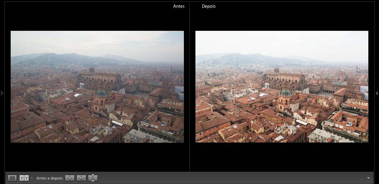 Antes e depois em Bolognha