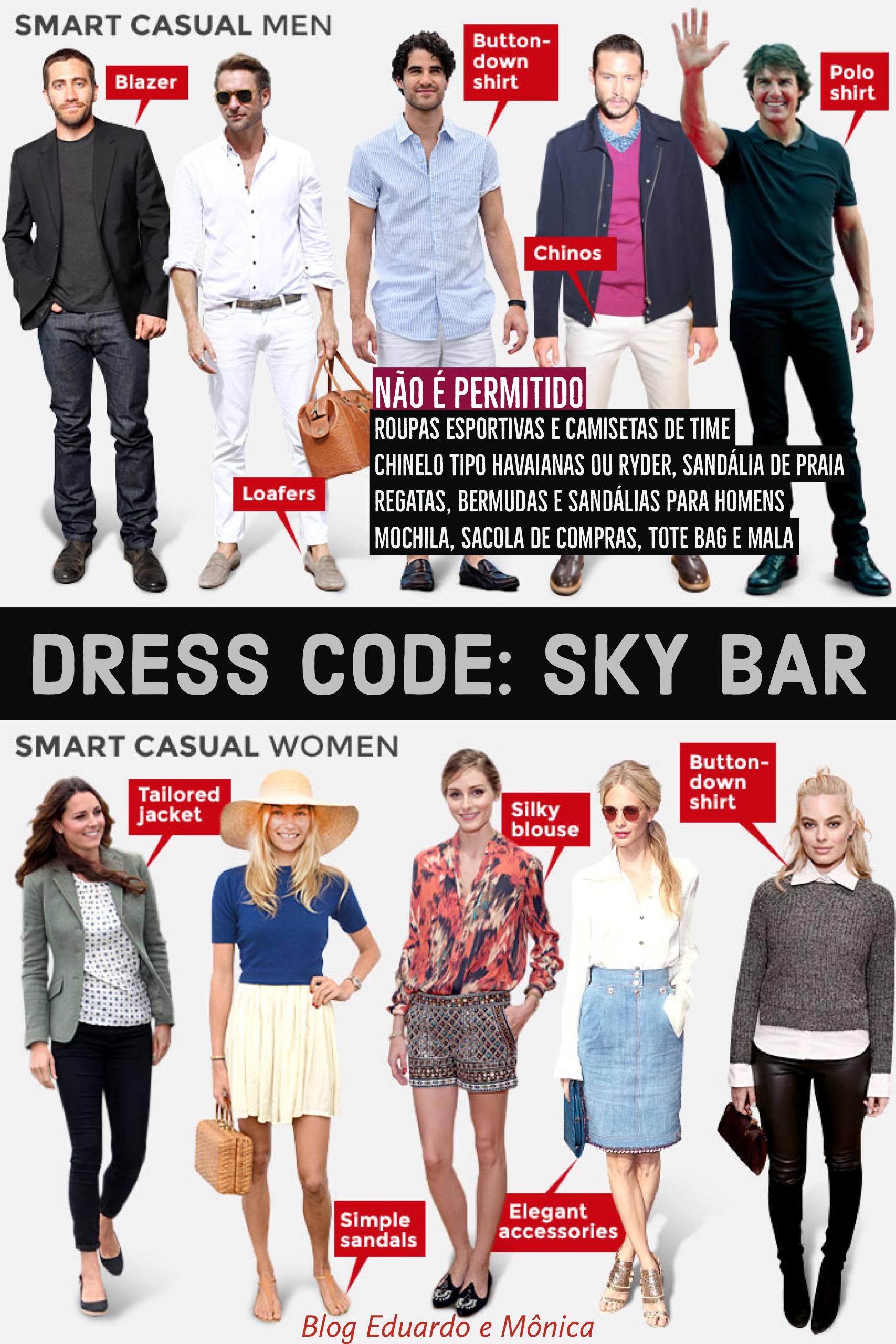 Dress Code para o Sky Bar