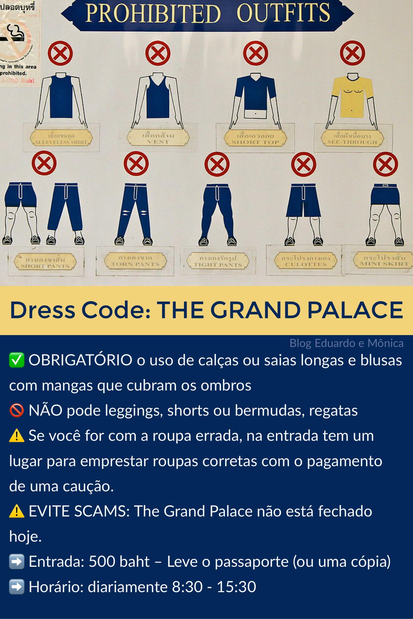 Dress Code para o Grand Palace