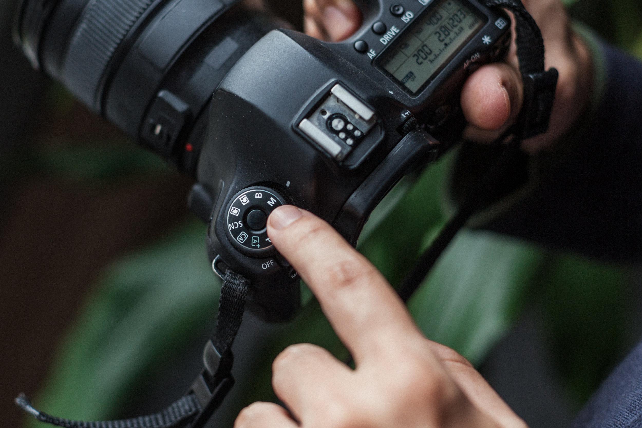 Modo manual da camera