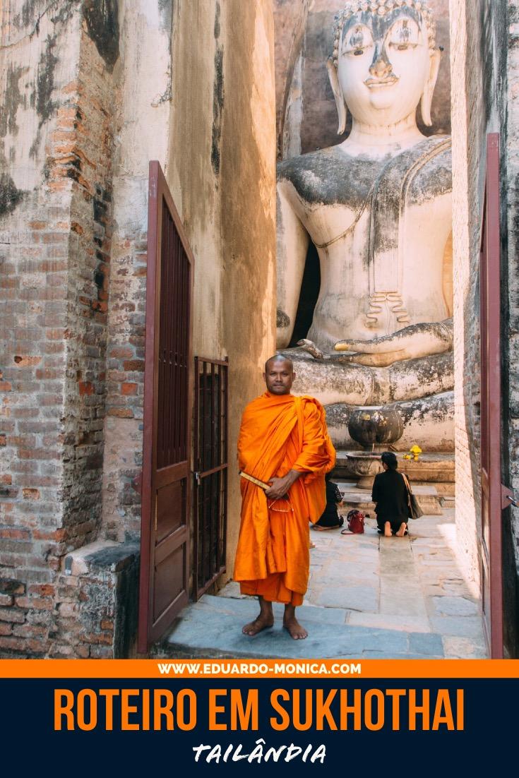 Roteiro em Sukhothai na Tailândia