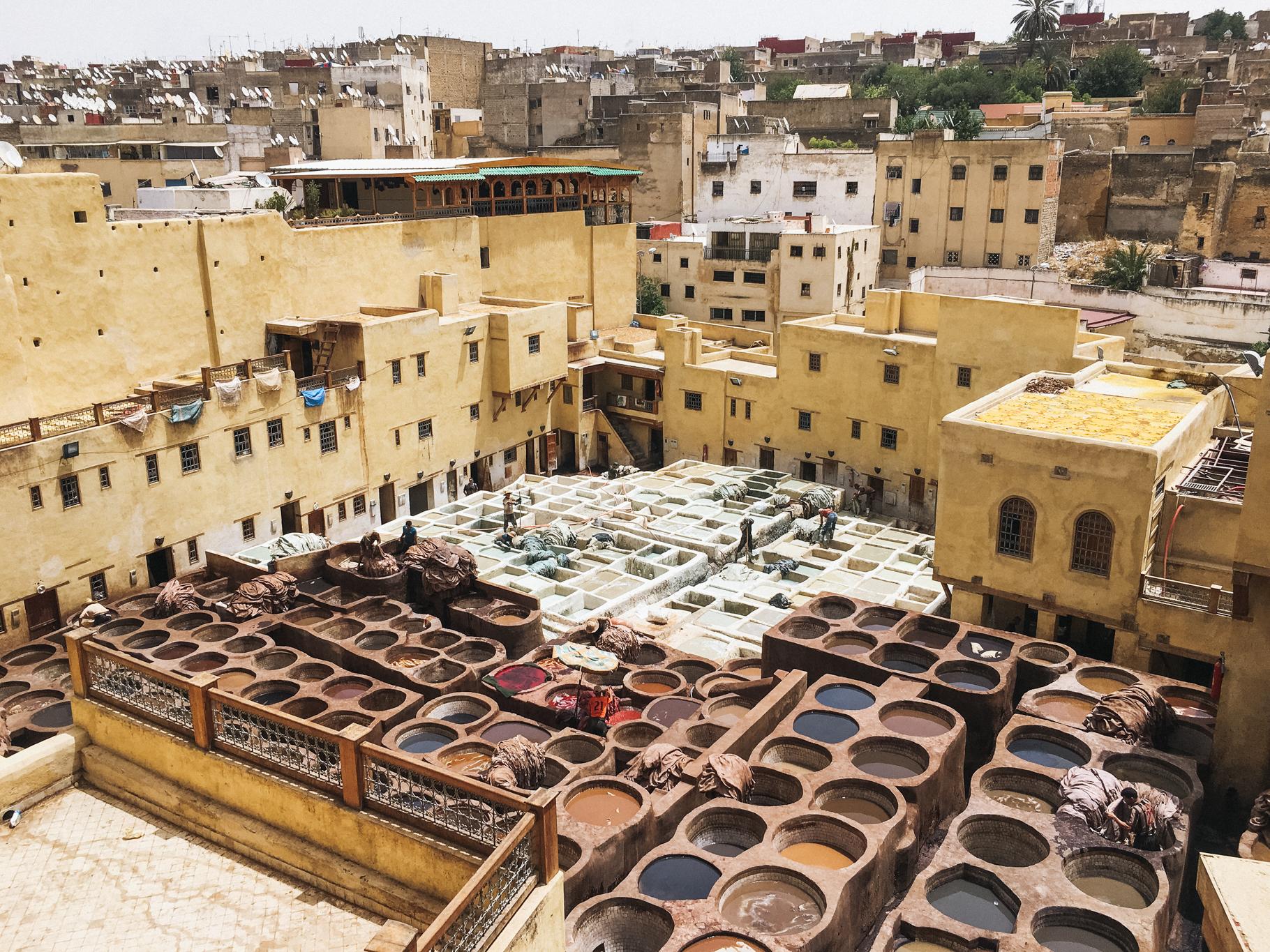 Curtume em Fes, Marrocos - iPhone 6s
