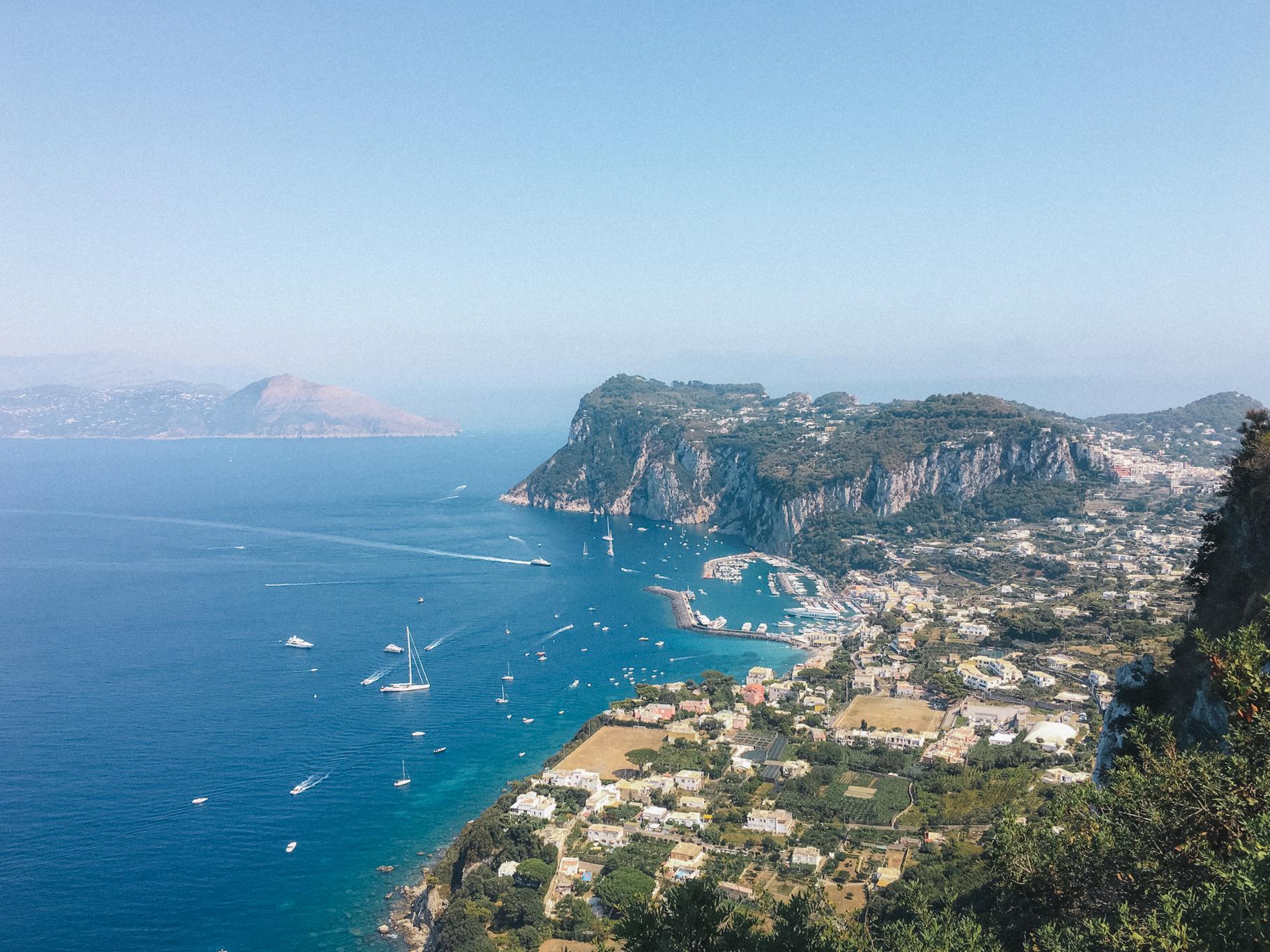 Capri a partir de Anacapri, Itália - iPhone 6s