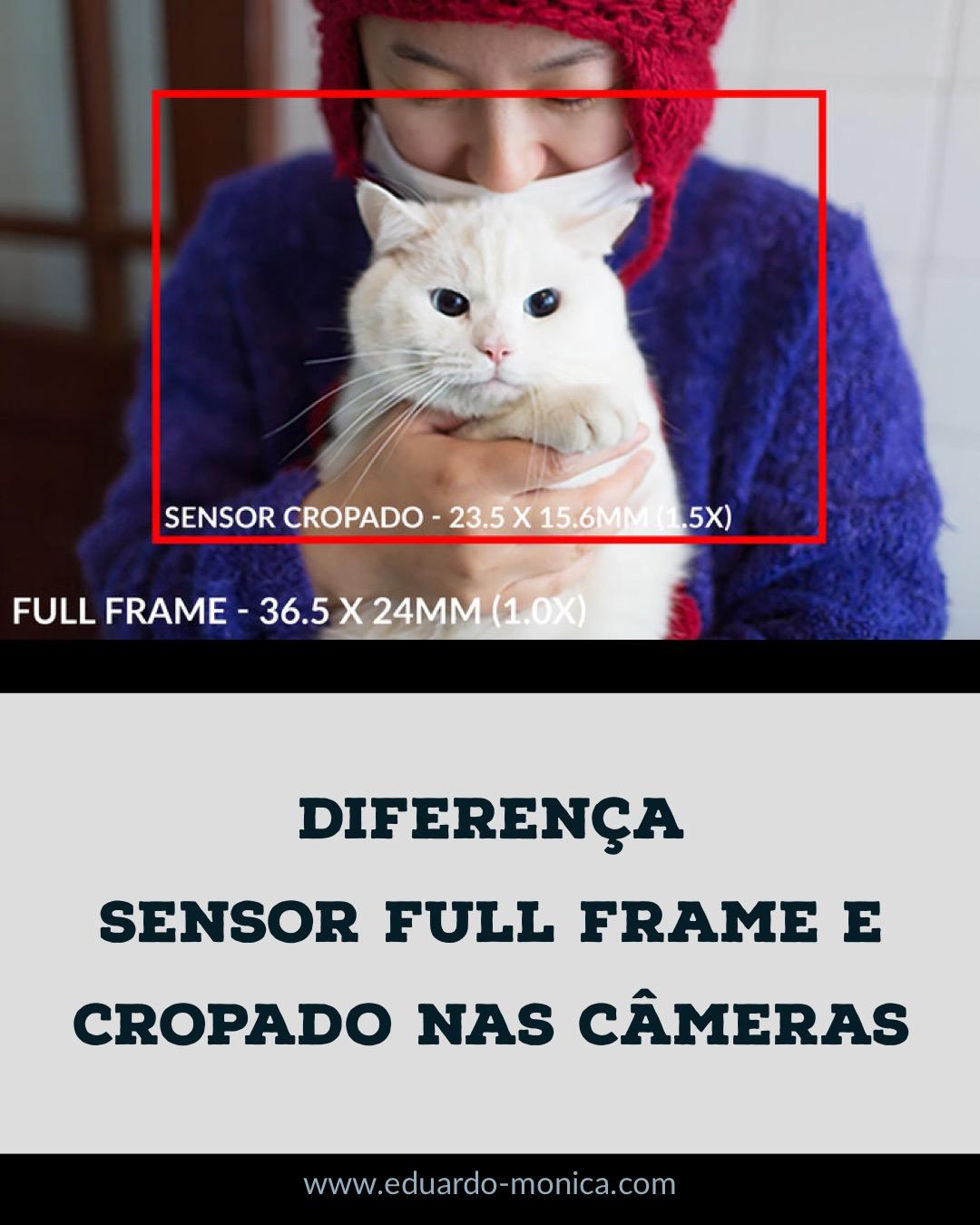Diferença da Sensor Full Frame e Cropado nas Câmeras