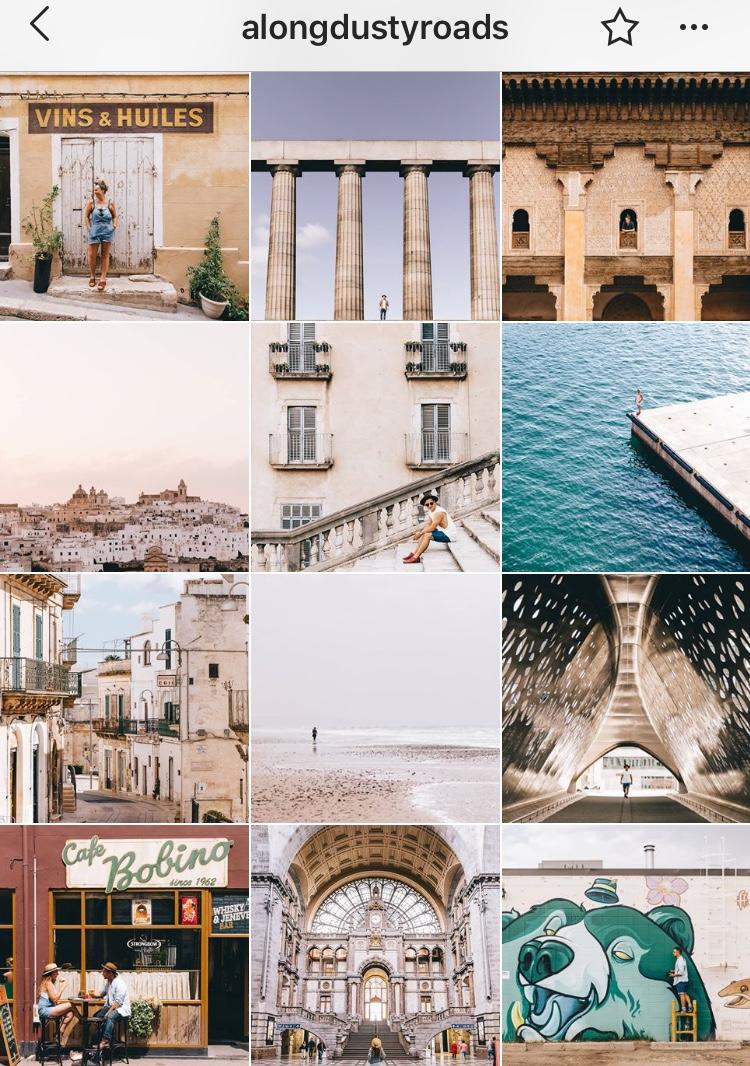 @alongdustyroads   | 5 Dicas para ter feed de Instagram organizado