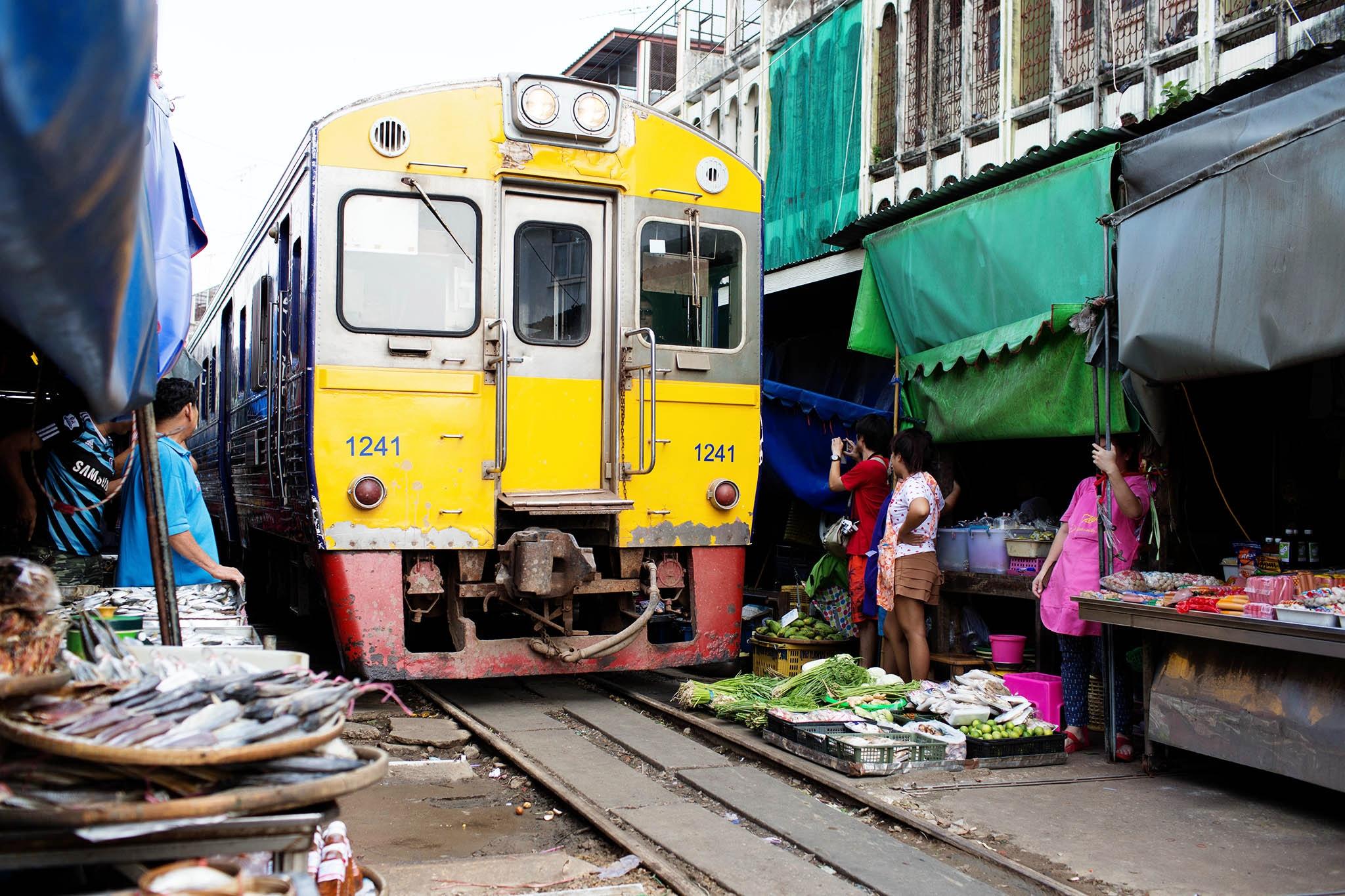 Mercado do Trem Mae Khlong
