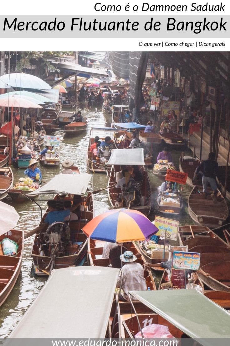 Como é o Mercado Flutuante Damnoen Saduak