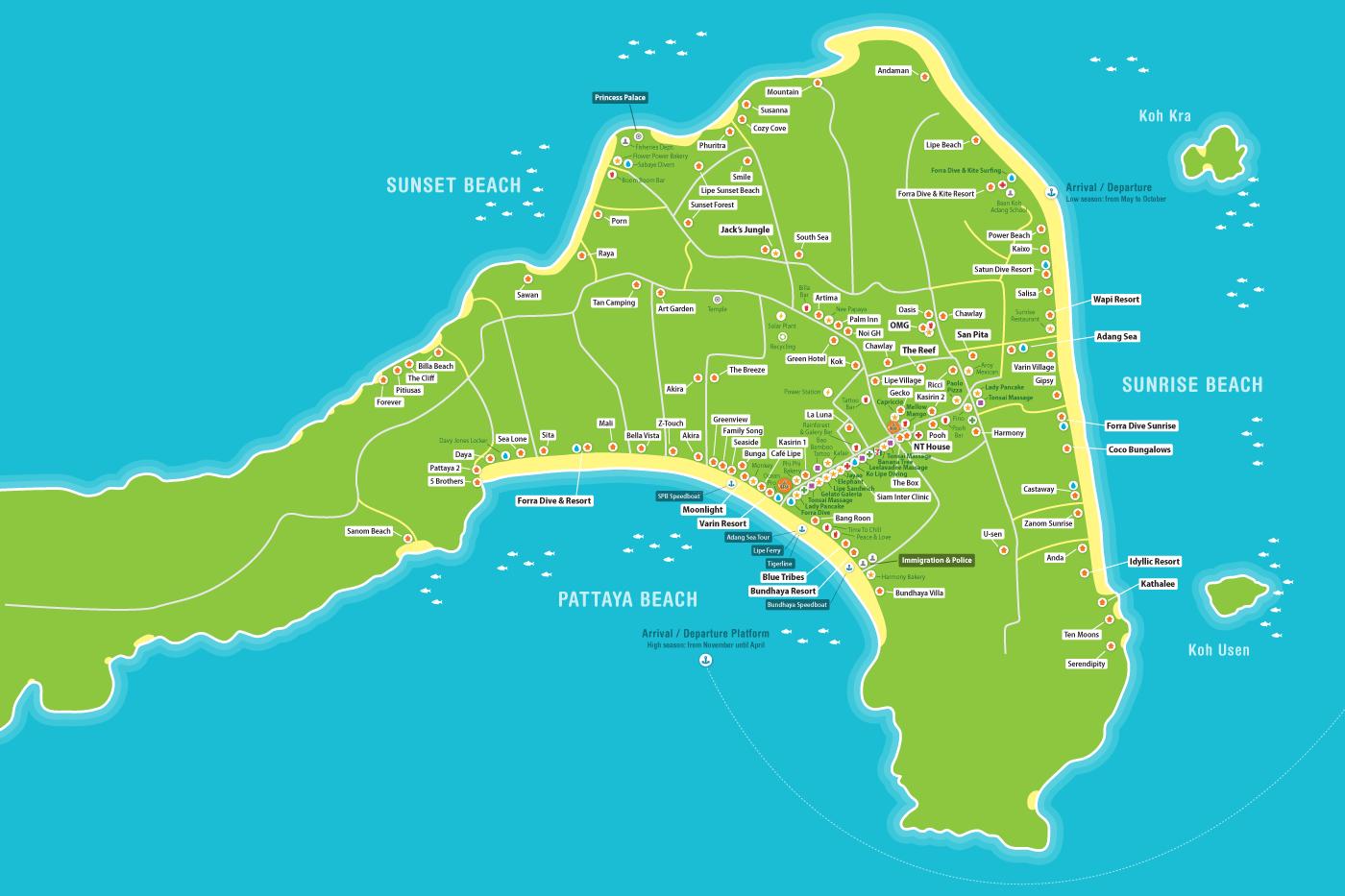 mapa kph lepe tailandia