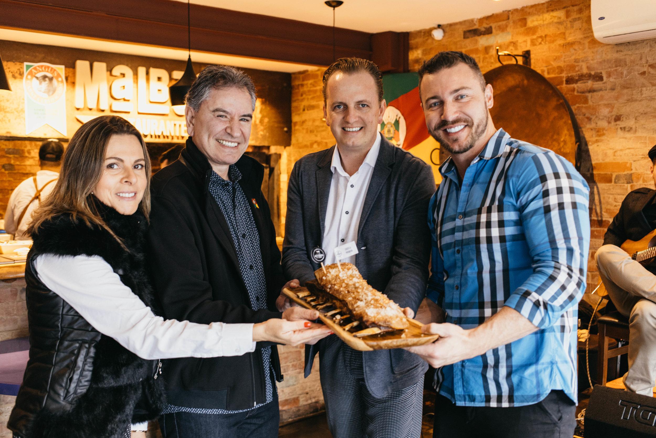 Representantes da Associação Brasileira de Angus, Restaurante Malbec e Frigorífico Zimmer