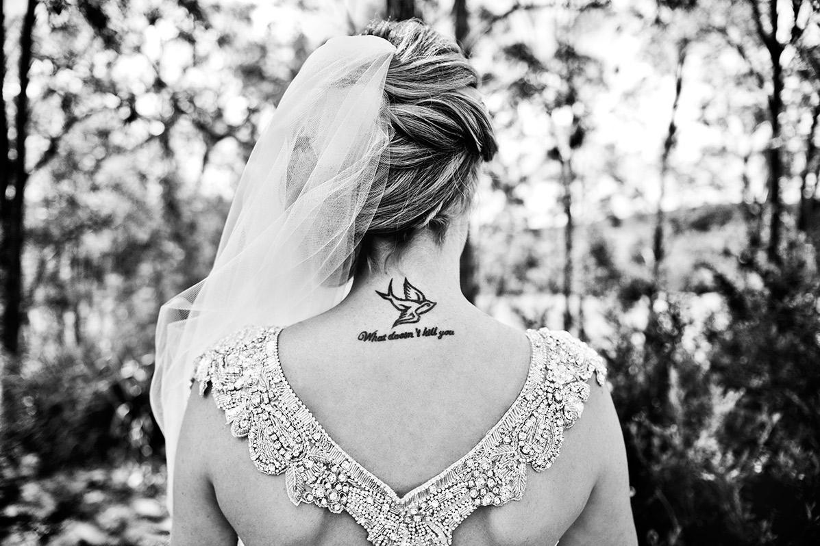 Bride at her Wollombi wedding