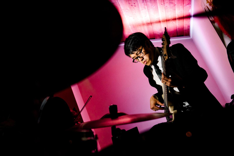 Guitarist performing at Shoalhaven wedding