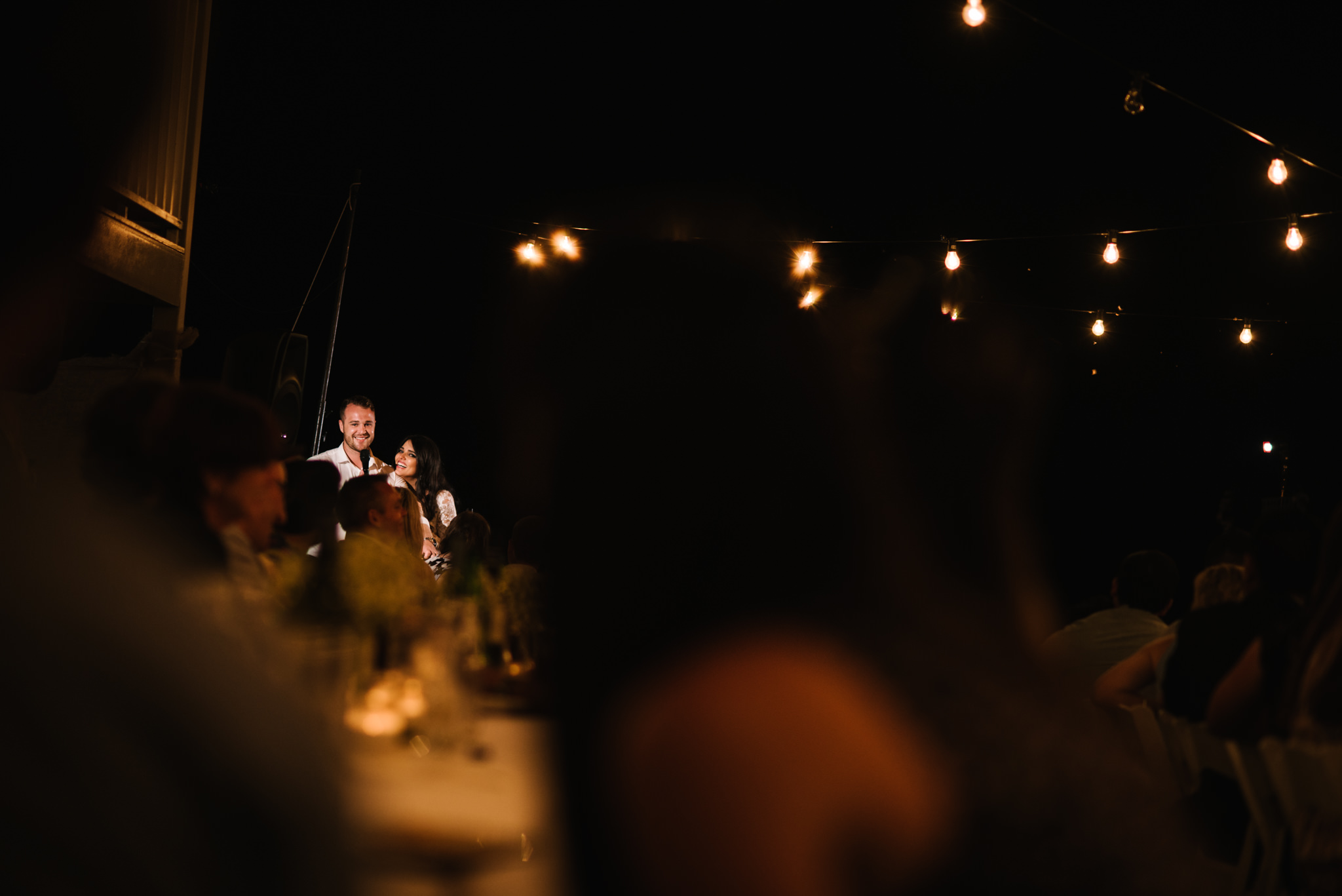 Speeches at outdoor wedding reception.jpg