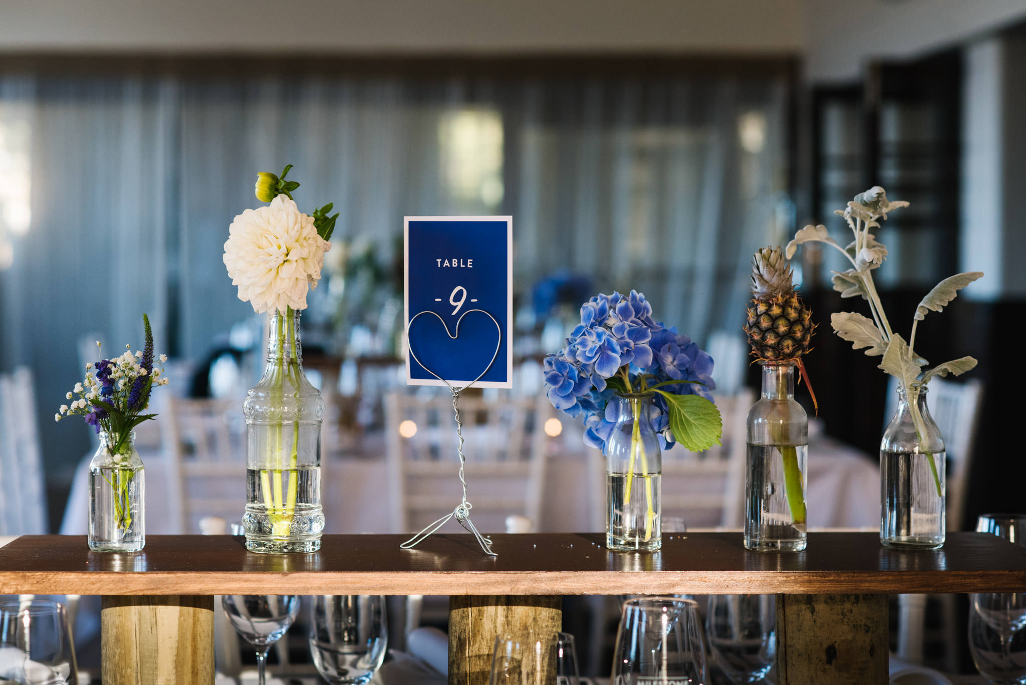 Carefully crafted reception details are a feature of the wedding planners at Milestone Events