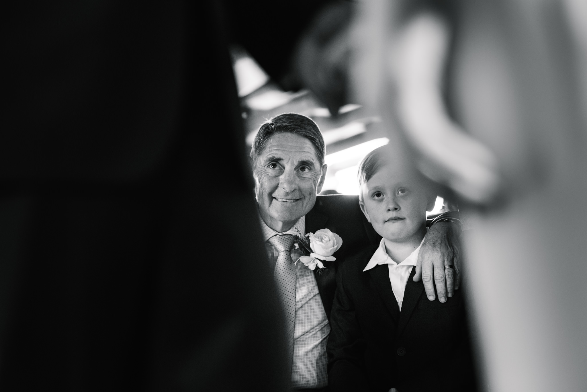 Father and nephew at ceremony