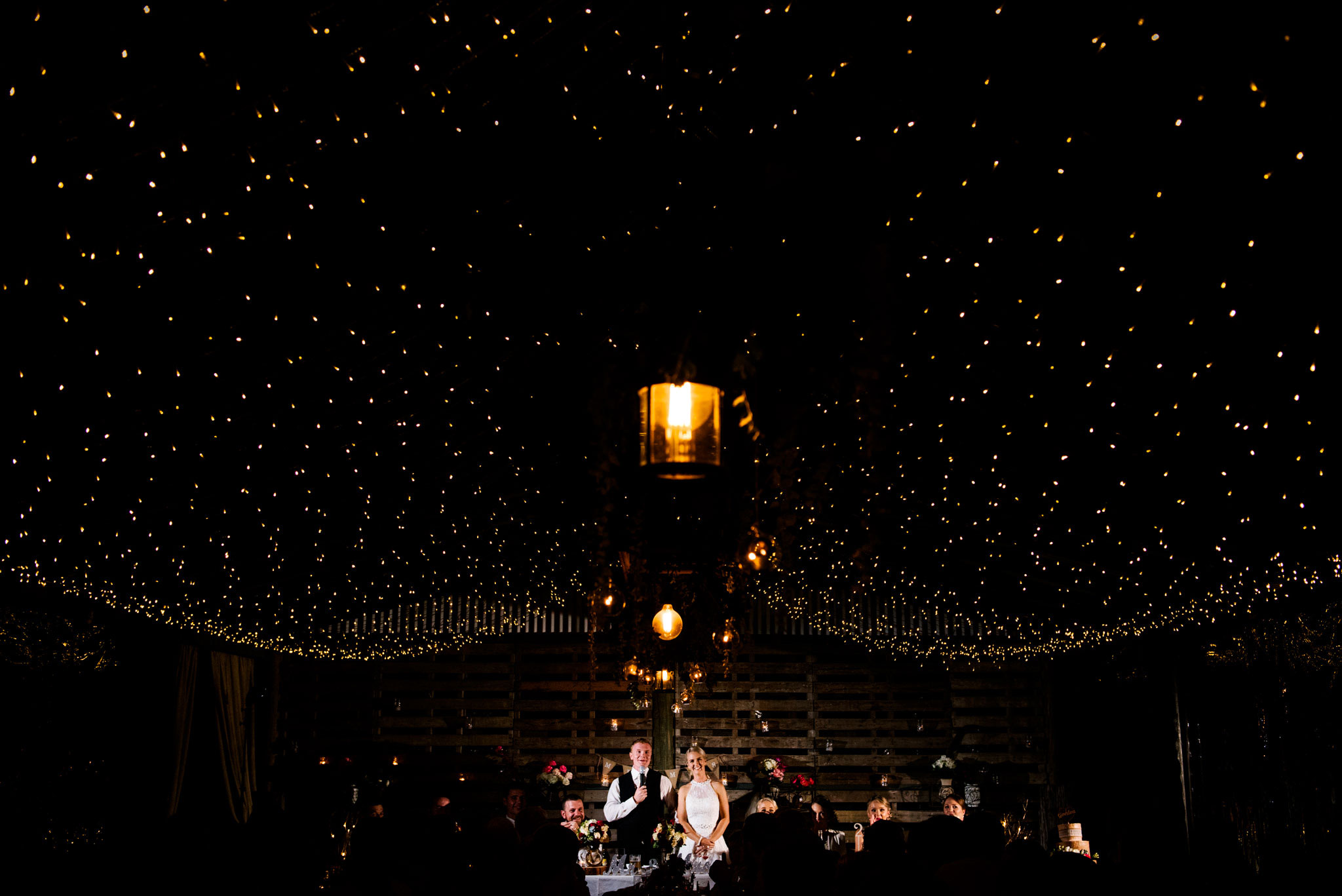 Bride and groom speeches at Greenfield Farm Estate