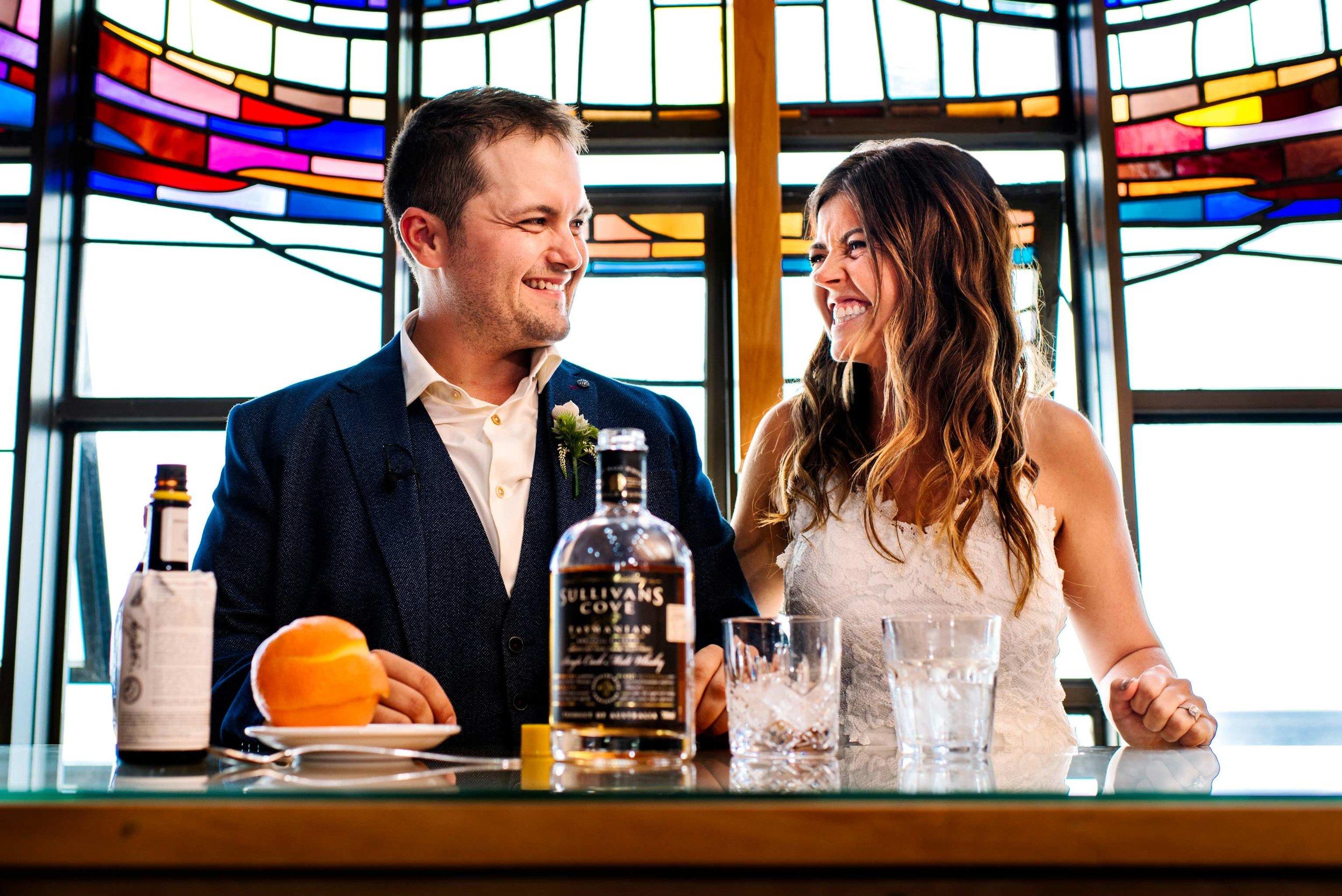 Unique cocktail ceremony at nuptials