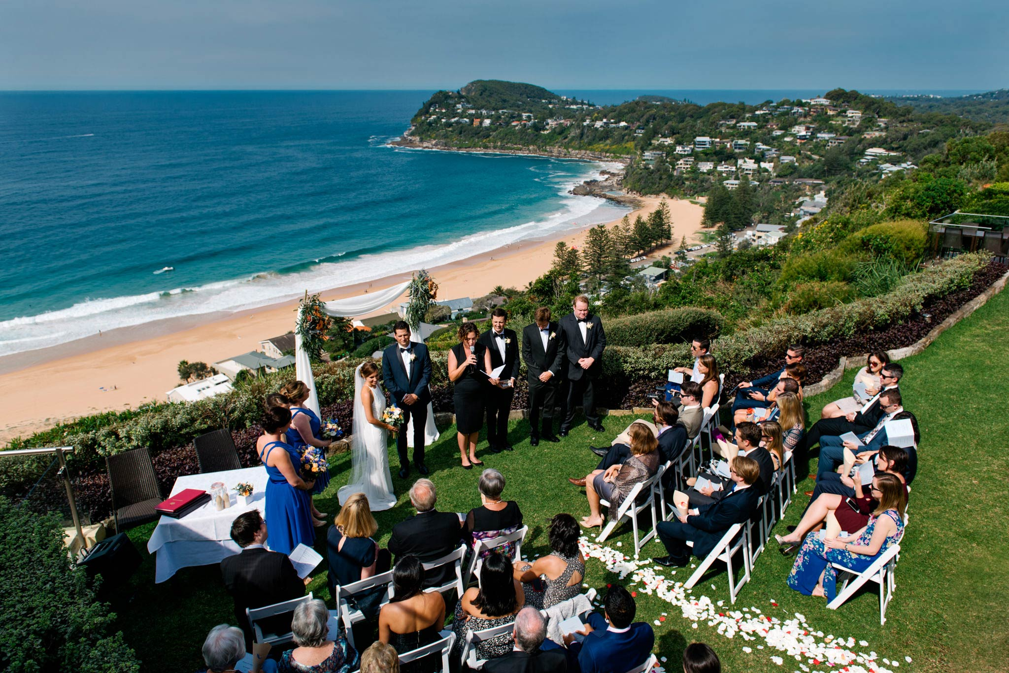 Wedding ceremony at Jonah's Whale Beach