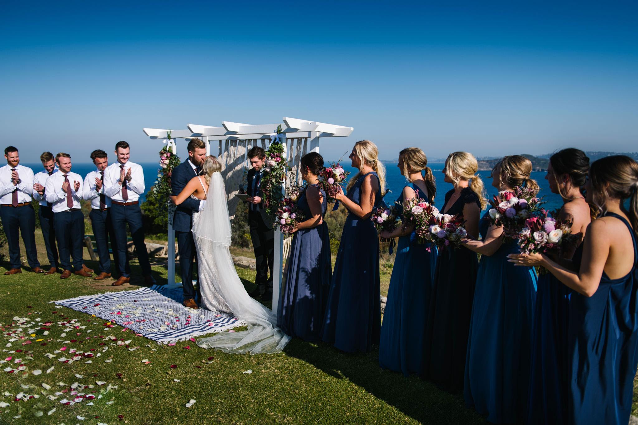 Wedding ceremony on Mona Vale Headland