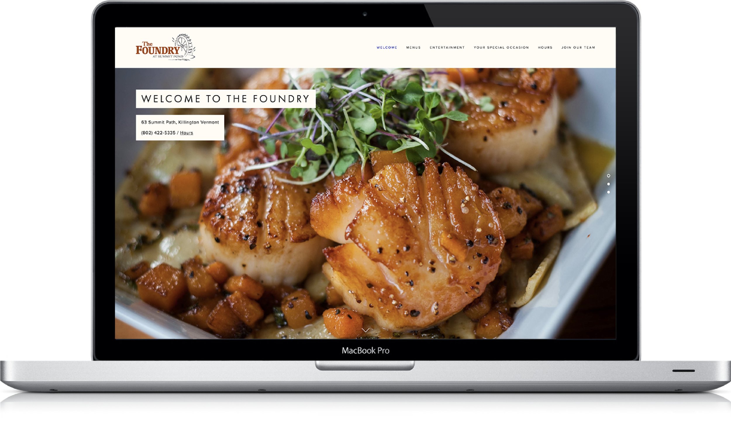 I photographed this project and designed the website