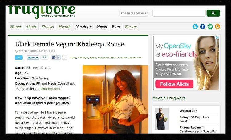 Khaleeqa on Frugivore