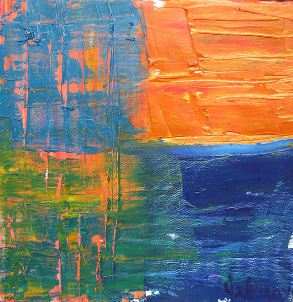 Jill Joy – Horizontal Sunset – oil on canvas – 12×12″ – 2006.jpg