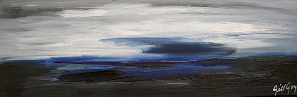 Jill Joy - January Sea - oil on canvas - 6x18.jpg