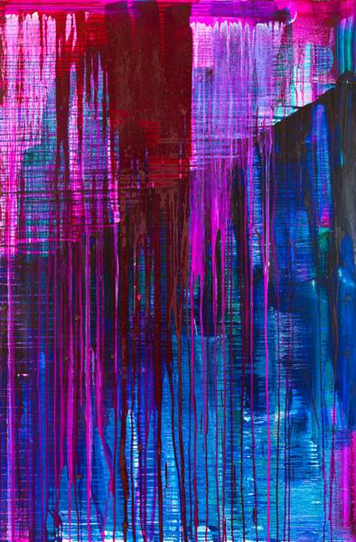 "Dark Mountain, oil on canvas, 60x40x1.5"", 2010 - $1,900"