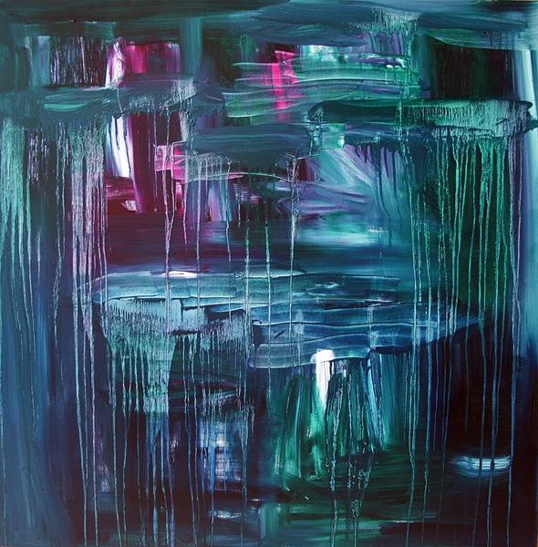 Jill Joy - The Color of Heartbreak - oil on canvas - 48x48 - 2010
