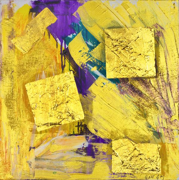"""Jill Joy, Dreaming Love, mixed media on canvas, 20x20"""", 2007"""