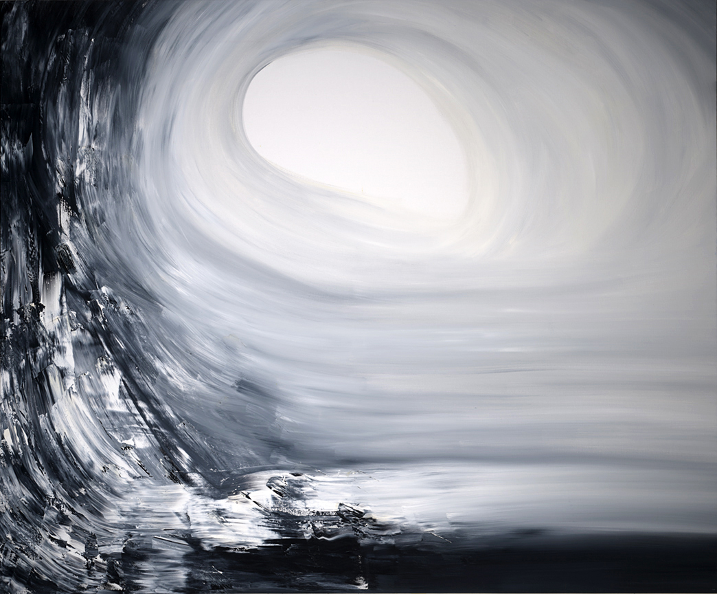 "Jill Joy, Wave, oil on canvas, 57x69x2.5"", 2014"