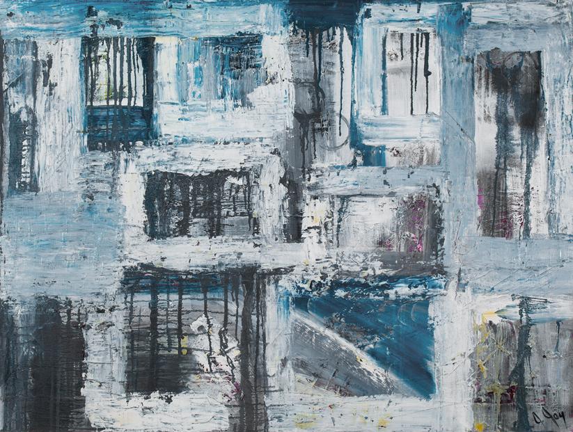 Jill Joy - Its Complicated – mixed media on canvas – 36x48″ – 2009 - $1,200