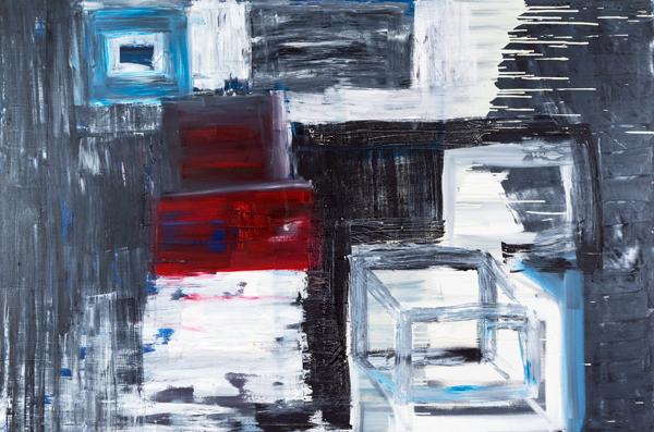 """Landslide, oil on canvas, 48""""x72x1.5"""", 2011 - $2,400"""