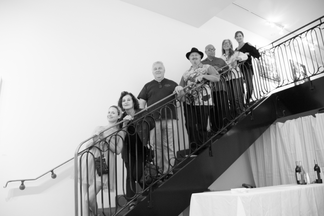 Jill Joy Gallery  - Emotion Exhibition Installation - Oct 2016 Gang on Staircase 1.jpg